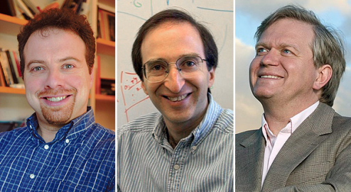 Adam Riess, Saul Perlmutter and Brian Schmidt winners of the 2011 Nobel Prize in physics